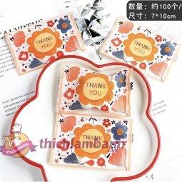 Túi ép 7x10cm Hoa Thankyou giá rẻ chỉ với 33.000 đ