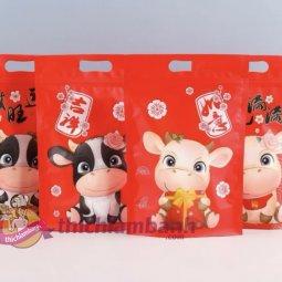 Túi zip mẫu Bò đỏ giá rẻ chỉ với 25.000 đ
