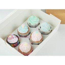 Hộp cupcake mở nắp 6 bánh màu trắng giá rẻ chỉ với 14.000 đ